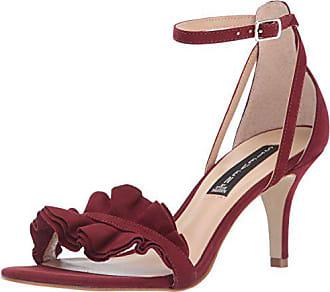 7c6c5a7484c Steven by Steve Madden Womens Vexen Dress Sandal Burgundy Nubuck 6 M US