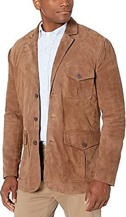 Bruno Magli Mens Silky Goat Suede Moto Classic Jacket