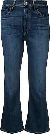 3x1 Calça jeans cropped flare - Azul