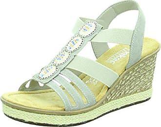 Rieker Damen Sandaletten Sandalette eleganter Boden 67508-60 grau 276582 86090e40bf4