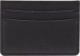 A.P.C. André Grained-leather Cardholder - Mens - Black