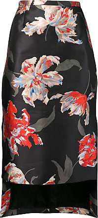 Rochas Saia lápis floral - Preto