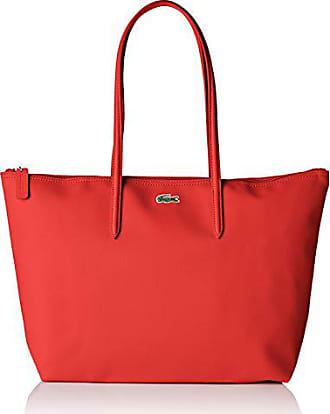 09a8e29847 Lacoste Sac Cabas Toile PVC Femme, Bandouliere, Rouge (High Risk Red),