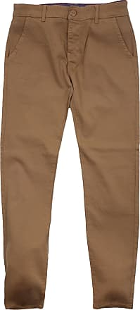 Firetrap Newaygo Slim Fit Cotton Chino Trousers Tobacco