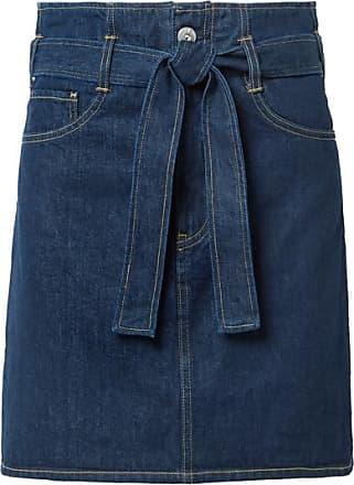 3x1 Kelly Belted Denim Mini Skirt - Dark denim
