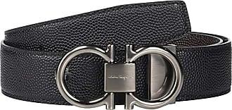 Salvatore Ferragamo Adjustable/Reversible Belt - 679938 (Black/Chocolate) Mens Belts