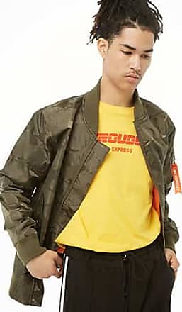 21 Men Victorious Bomber Jacket at Forever 21 Olive
