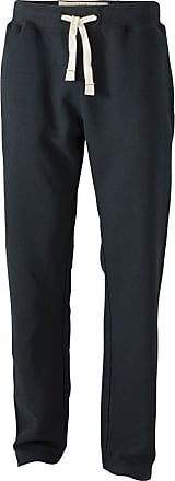 James & Nicholson JN945 Mens Vintage Wash Sweat Pants Black Size L