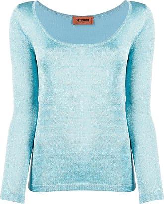 Missoni Suéter metálico de tricô com stretch - Azul