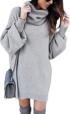 Damen Pullover Pulli Ripp Sweater Rundhals Langarm Lang 34 36 38 S M