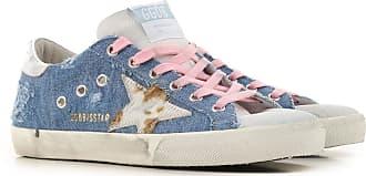 Golden Goose Sneaker für Damen, Tennisschuh, Turnschuh Günstig im Sale, Helles Demim Blau, Gewebe, 2019, 36 37 38 39 40