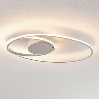 Lindby Xenias lámpara LED de techo, blanco 49x30cm