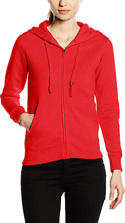 Fruit Of The Loom Womens Zip front Premium Hooded Sweat, Red, 18 (Manufacturer Size:XX-Large)