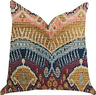 Plutus Brands Ikat Anika Double Sided Luxury Throw Pillow 20 x 20 Multi Color