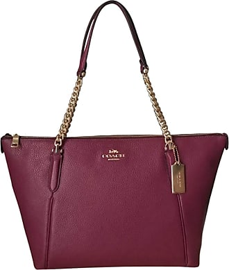 Coach Pebbled Leather Ava Chain Tote Brown Size: One size