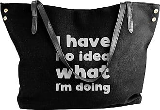 Juju I Have No Idea What Im Doing Womens Classic Shoulder Portable Big Tote Handbag Work Canvas Bags
