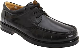 Roamers Mens Padded Softie Leather Moccasin Type Shoes (11 UK) (Black)