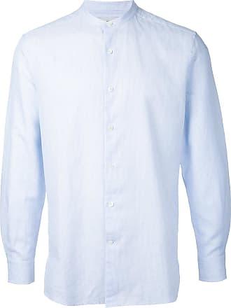 Kent & Curwen band collar shirt - Blue