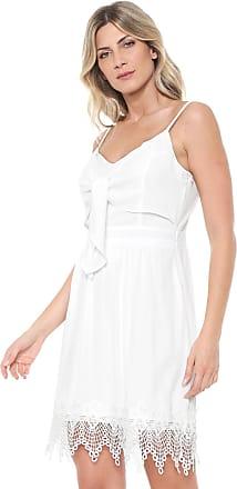75847ba13 Ana Hickmann Vestido Ana Hickmann Curto Recortes Branco