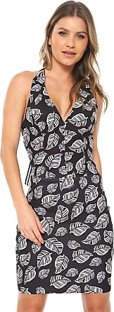 ec759b216 Acostamento Vestido Frente Única Acostamento Curto Floral Preto