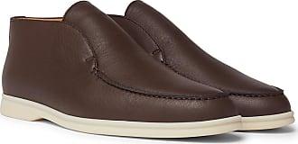 Loro Piana Open Walk Full-grain Leather Boots - Brown