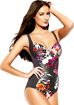Panache SW0740 Swimwear Tallulah Swimsuit Swimming Costume Charcoal/Multi (32 D)