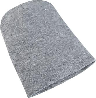 Yupoong Flexfit Unisex Heavyweight Long Beanie Winter Hat (One Size) (Heather Grey)