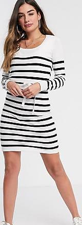 Mamalicious Maternity Striped Chiffon Kaftan Navy /& White