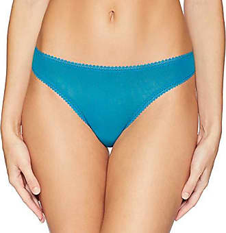 OnGossamer Womens Intimate Apparel Mesh Low-Rise Thong Panty, Ocean Depths, Small
