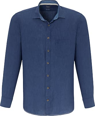 Olymp Shirt made of 100% linen Olymp blue