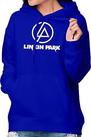 Atelier do Silk Moletom Flanelado Canguru Unissex Banda Rock Link Park Cor:Azul;Tamanho:GG