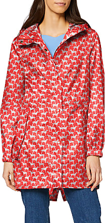 Joules Womens Golightly 206185 Raincoat, Red (Red Dog Red Dog), (Size:14)