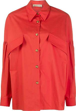 Gentryportofino Camisa oversized com mangas longas - Vermelho