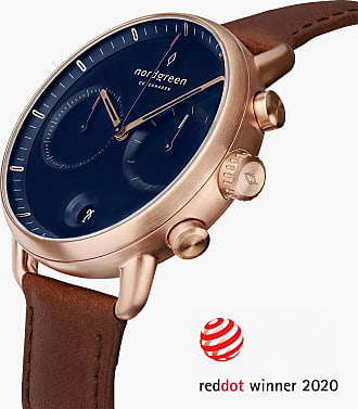 Nordgreen Pioneer | Navy Dial - Brown Leather - 42mm / Rose Gold
