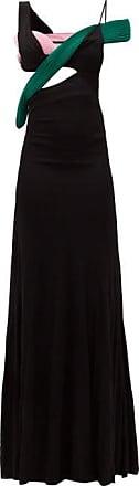 Haider Ackermann Cutout Colour-block Crepe Gown - Womens - Black Multi