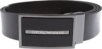 Emporio Armani Belts On Sale, Black, Leather, 2019, Universal size