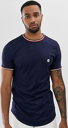 Le Breve Tall - T-shirt con bordi a contrasto-Navy
