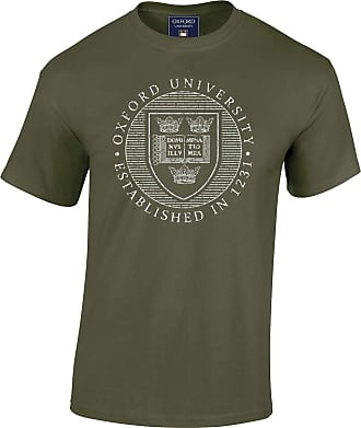 Oxford University Official Distressed Crest T-Shirt - Military Green - XX Large