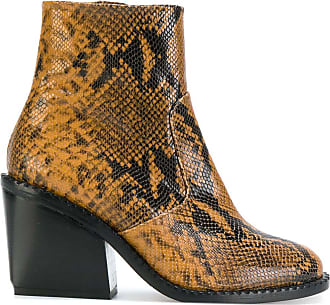 Robert Clergerie Mayan snake-skin effect boots - Brown
