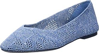Skechers Womens Cleo KNITTY City Trainers, Blue (Denim Open Flat Knit Denim), 2.5 (35.5 EU)