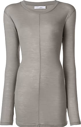 ea3d4af8533f5 Iro longline fitted top - Grey