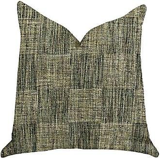 Plutus Brands Foursquare Avenue Double Sided Luxury Throw Pillow 24 x 24 Green