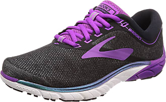 Brooks Womens PureCadence 7 Running Shoes, Multicolour (Black/Purple/Multi 023), 4.5 UK