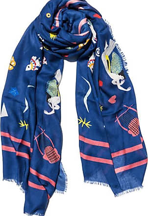 Cyclades Olympia Cashmere Blend Scarf Blue