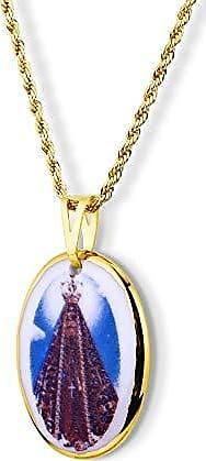 Design Medalhas Pingente Medalha Nossa Senhora Aparecida Ouro pequena