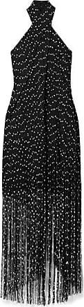 Jacquemus Cortese Fringed Bouclé Halterneck Maxi Dress - Black