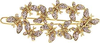 Oscar De La Renta Butterfly barrette hair clip - GOLD