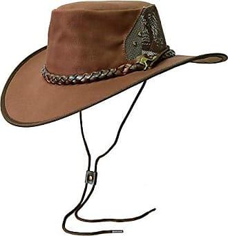 aus Baumwolle mit Netz-Block Kakadu Traders Leichter Canvas Hut Backpacker Breeze Hutfangband und Gebogene Krempe