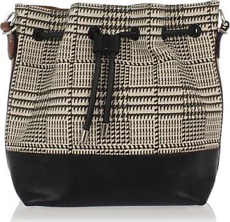 Proenza Schouler Medium Bucket Bag mit Hahnentritt-Druck Größe Unica