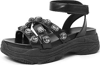 Damannu Shoes Sandália Anette Napa Preto - Cor: Preto - Tamanho: 34
